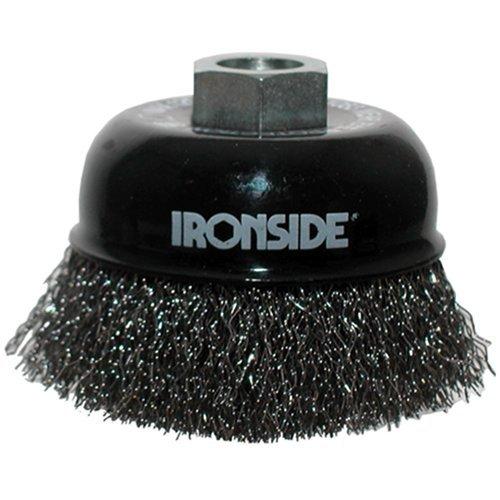 Ironside 243010 Brosse à fils métalliques 100 mm M14 ondulé pour Meuleuse d'angle
