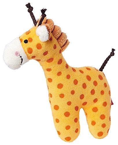d Jungen, Greifling und Rassel Giraffe, Orange, 41170 (Baby Stofftier)