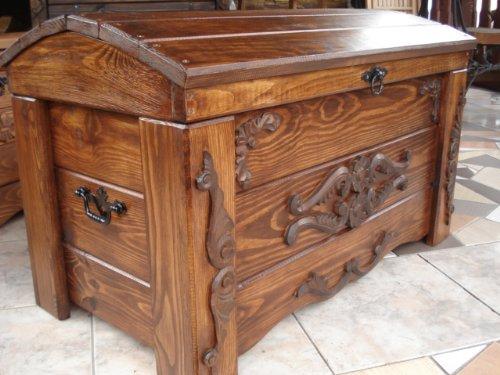 Baúl de madera estilo vintage que se puede usar como mesa de ...