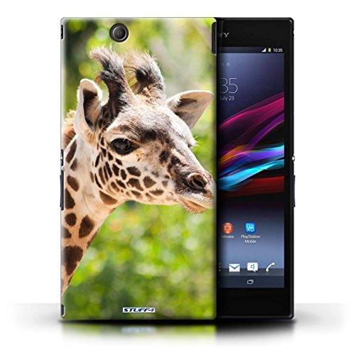 KOBALT® Hülle Case für Sony Xperia Z Ultra   Löwe Entwurf   Wilde Tiere Kollektion Giraffe