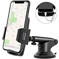 Maibahe Car Phone Mount Universal Smartphone Holder 360 degree rotation Quick-Release Button compatible smartphone GPS device etc