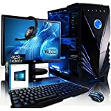 "Vibox Sharp Shooter Package 10W Gaming PC - with Warthunder Game Bundle, Windows 10, 21.5"" HD Monitor, Gamer Headset, Keyboard & Mouse Set (4GHz AMD FX Eight Core Processor, Nvidia Geforce GTX 960 Graphics Card, 120GB Solid State Drive, 2TB Hard Drive, 16GB RAM, Vibox Tactician Blue LED Case)"