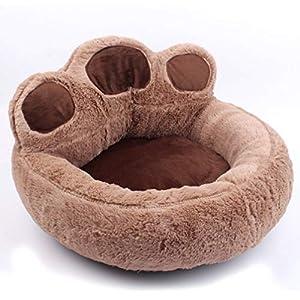 Größe: S=50x50x30cm; M=60x60x30cm  Größe: L=70x70x30cm(L x W x H)  Lieferinhalt: 1 x Haustierbett sofa  Hergestellt aus hochwertiger Baumwolle und weichen, warmen Fleece-Materialien, die eine lange Lebensdauer gewährleisten und eine sichere und angen...