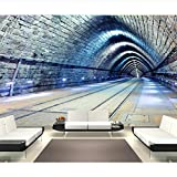 Train Tunnel3D Wallpaper Background Hd Mural Home Decoration Living Room Bedroom Environmental Protection Material Seamless Mural Decal Waterproof Material