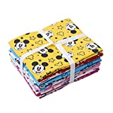 Disney Fat Squarters Bundle - Topolino Minnie - tessuto patchwork in cotone - 10 disegni assortiti