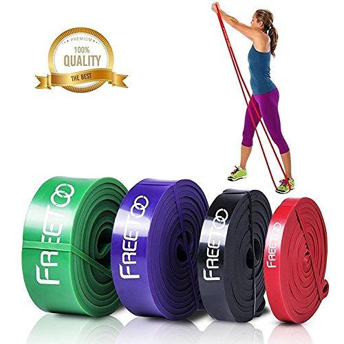 FREETOO Exercise Resistance Bands for Men Women 4 levels SET