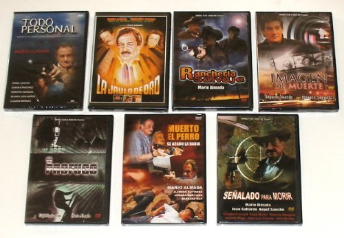 7 Different Spanish DVD's featuring MARIO ALMADA * 7 Peliculas by Mario Almada (De Mario Almada Peliculas)