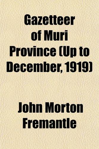 Gazetteer of Muri Province (Up to December, 1919)