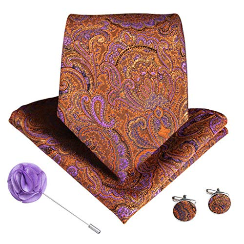 12 Styles Purple Herren Krawatte Mit Taschentuch Manschettenknöpfe Brosche Set 100{6214d53bcae61defbca5f241344d5a54be37eab13acc9a3726d3d5cb00b6190c} Seide Krawatten Ldnx0042