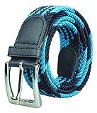 Cintura intrecciata per donna / Cintura Uomo / Cintura in tessuto blue/turchese lunghezza totale 120cm