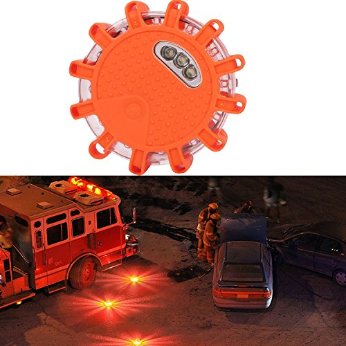 LED Notfall Lampe, Auto Tragbar Warnblitzer LED Warnleuchte Parken Orange
