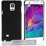 Yousave Accessories Samsung Galaxy Note 4 Hülle Rosa Blumen Biene Silikon, Mehrfarbig Quallen Siliko Hybride - Noir