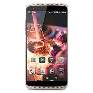 5.2'' ZTE AXON MINI 4G LTE Smartphone, Android 5.1, 1080P FHD Display, Qualcomm Snapdragon MSM8939, Octa-Core, 1.5 GHz, 3GB RAM + 32GB ROM, Fingerprint / WiFi / GPS / FM - Oro
