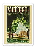 Vittel, Frankreich - Casino, Park, Grand Hotel - Nationale Gesellschaft der französischen Bahnen - Vintage Retro Eisenbahn Reise Plakat Poster von Chanel c.1920s - Kunstdruck - 23cm x 31cm