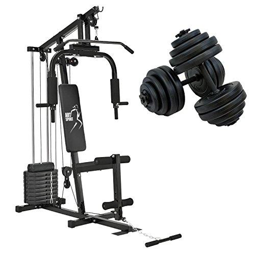 ArtSport Kraftstation Profi Gym 2000 & Kurzhantel 30kg Set 2 in 1
