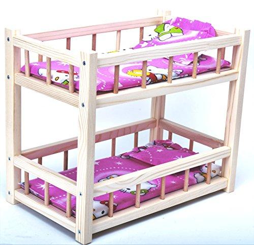 Puppenbett aus holz/ Abgestufter Holz Krippe für Puppen / Holzspielzeug / Puppen Krippe 36 cm / Puppenbett