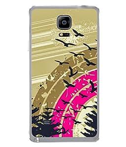 PrintVisa Designer Back Case Cover for Samsung Galaxy Note 4 :: Samsung Galaxy Note 4 N910G :: Samsung Galaxy Note 4 N910F N910K/N910L/N910S N910C N910Fd N910Fq N910H N910G N910U N910W8 (Trees Wind)