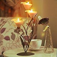 Cena lume di candela romantico creativo sulla