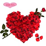3000 Stück Rosenblätter Rosenblüten für Hochzeit Party Dekoration und Romantische