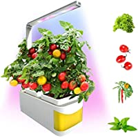 Kawosh Lámpara de Planta Luz de Planta LED Lámpara de Crecimiento hidropónico Lámpara de Crecimiento de Espectro Completo con Temporizador Alarma de bajo Nivel de Agua para Plantas de Interior
