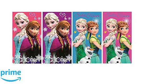 Frozen Die Eisk/önigin 4er Set Handtuch KINDERHANDTUCH 35x65cm