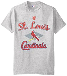 MLB St. Louis Cardinals Men's 58T Tee, Steel Heather, Large
