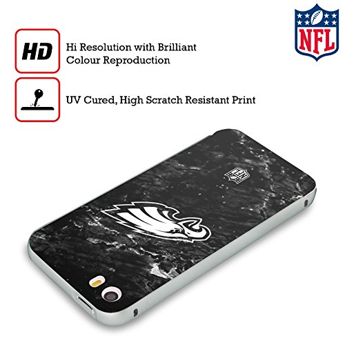 Ufficiale NFL LED 2017/18 Philadelphia Eagles Argento Cover Contorno con Bumper in Alluminio per Apple iPhone 5 / 5s / SE Marmo