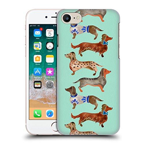 Head Case Designs Offizielle Cat Coquillette Dackel Blau Tiere Harte Rueckseiten Huelle kompatibel mit iPhone 7 / iPhone 8 -