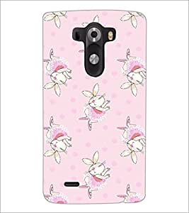 PrintDhaba Bunny pattern D-2091 Back Case Cover for LG G3 (Multi-Coloured)