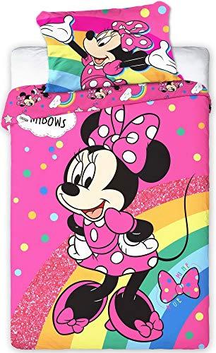 Disney 107 Minnie Maus Baby Wende-Bettwäsche Set 100 x 135cm