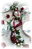 1,2m Gesteck bordeaux creme Hochzeit Kommunion Konfirmation Tischdeko