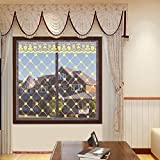 SQINAA Fensterschirm Netting Mesh-Vorhang Mit Zauberband,Stickerei Anti-moskito Magnetische Fenster Moskitonetz-e 120x130cm(47x51inch)