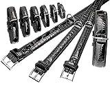 Karlie BUFFALO KROKO Halsband - Schwarz 40 mm, 60 cm