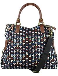 Canvas Echtleder Shopper Handtasche in verschiedenen angesagten Designs