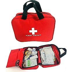 ZPL Kit de Primeros Auxilios, 100 Piezas, Bolsa médica, Bolsa de Emergencia, Adecuado para el hogar, Trabajo, Viajes, Vacaciones, automóviles y Camping