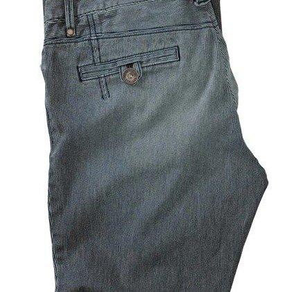 Jeans booutcut femmes Stripes de Eddie Bauer Bleu Rayé