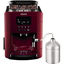 Krups Compact Cappucino EA816570 - Cafetera Superautomática 15 Bares, Pantalla LCD, 3 Niveles Intensidad de 20 ml a 220 ml, Programa de Limpieza y Descalcificación, Molinillo Integrado, Jarra Leche