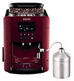 Krups Pisa EA816570 - Cafetera automática de 15 bares, pantalla LCD, accesorio cappuccino, 3 niveles intensidad, de 20 ml a 220 ml, programa de limpieza y descalcificación, molinillo integrado