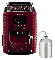 Cette machine à café automatique avec pression de 15 bar a une puissance de 1450W. Elle dispose dun écran de contrôle intégré. La capacité du réservoir deau est de 1,7L. Lintensité du café est variable. Elle propose un programme automatique d...