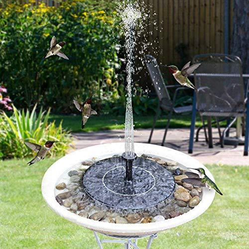 Yzpyd fontana di energia solare pompa di pompa da bagno per birdbaths, stagni piscina e giardino decorazione