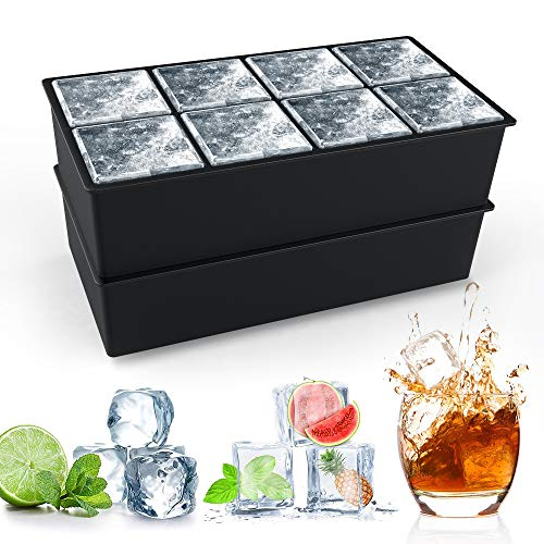 Eiswürfelform Silikon XXL, HOMMINI 8-Fach Silikon Eiswuerfel