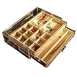 LIYANSSH - Cajas para joyas Joyero for Mujer con 2 cajones, Organizador de joyería de Terciopelo...