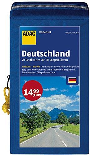 Preisvergleich Produktbild ADAC StraßenKarten Kartenset Deutschland 2016/2017 1:200.000: 20 Detailkarten auf 10 Doppelblättern (ADAC AutoKarten Deutschland 1:200 000)