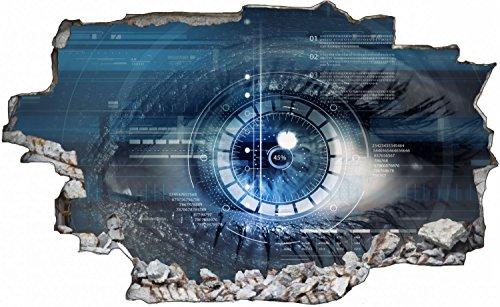 Auge Datenbank Wandtattoo Wandsticker Wandaufkleber C0565 Größe 70 cm x 110 cm