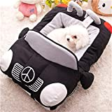 Yiuu Baumwolle Puppy Dog Sports Auto Bett – Gepolsterte und Abnehmbare Innen – Waschbar – Wasserdicht Unten – Atmungsaktiv Stoff,76 * 50 * 20Cm