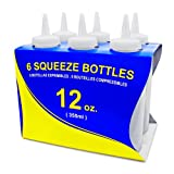 New Star 26146 Plastic Squeeze Bottle, 12-Ounce, Clear, Set of 6