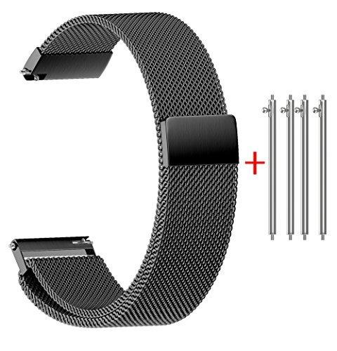 3d55e63d3aee NotoCity Milanese Banda Correa de Reloj de Acero Inoxidable de Repuesto 14  mm 16 mm 18