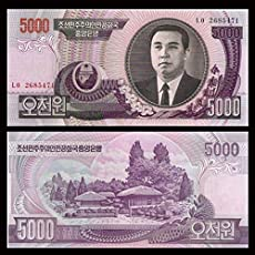 North Korea 5000 Won Note