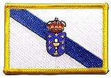 Aufnäher Patch Flagge Spanien Galicien - 8 x 6 cm