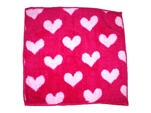 Platinum Kids super soft Hearts pattern multi colors Baby soft cotton based Handkerchief in a pack of 4